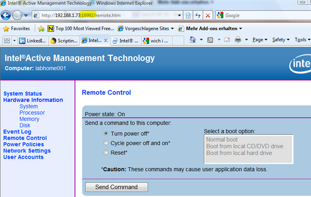 Using Intel AMT Power Management @ Home – Anything about IT