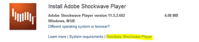Adobe Flash and Shockwave Enterprise Distribution – Anything