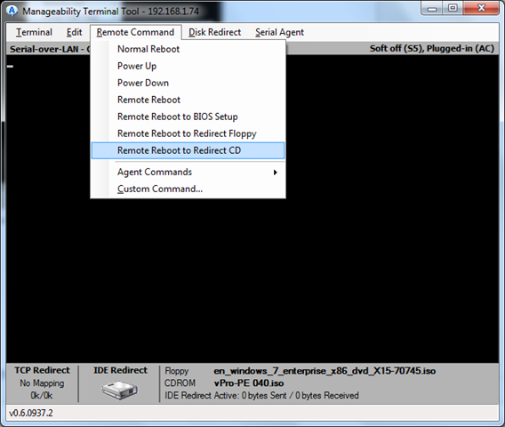 Remote Management of AMT/vPro machine with WinPE and VNC