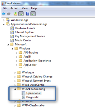 Using the Windows 7 Event log to check WLAN Link Quality – Anything
