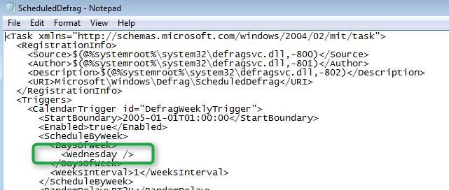 Changing the Windows 7 Scheduled Defrag Task – Anything about IT