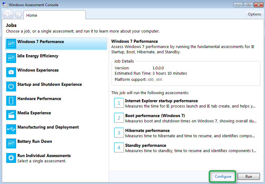 Performing a Windows Performance Assessment with the Windows
