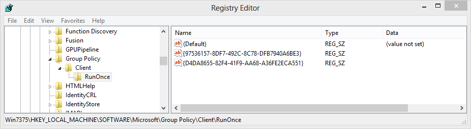 How to reapply a Group Policy Preference that is configured to Apply