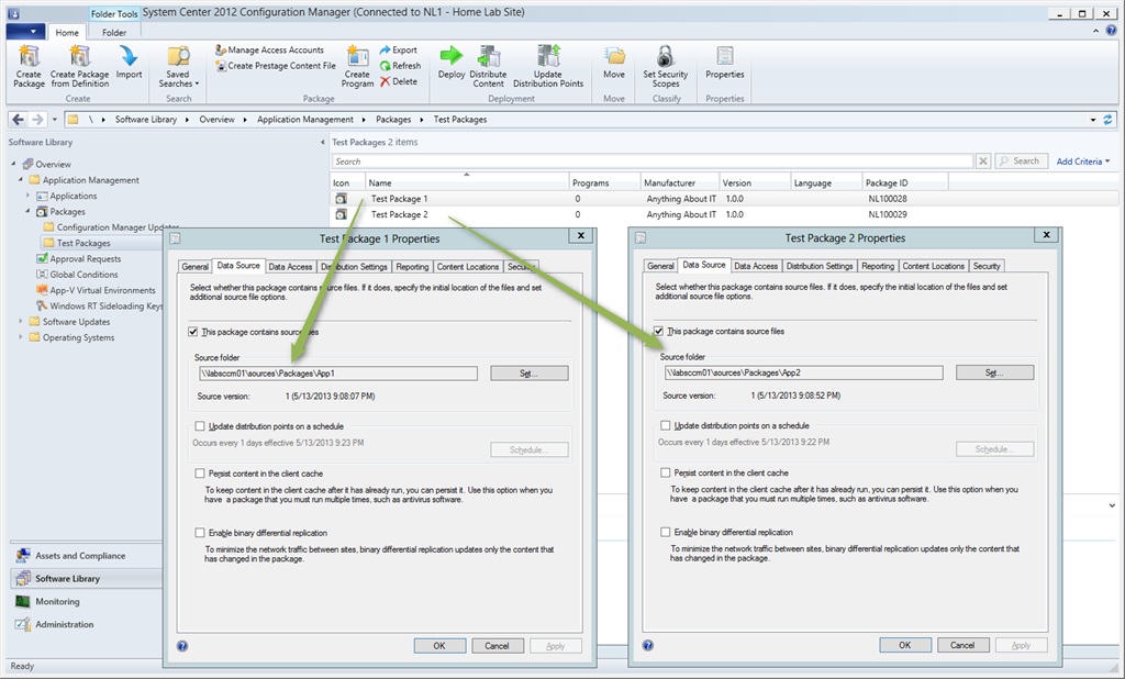 How to change the SCCM 2012 Package Source Path with