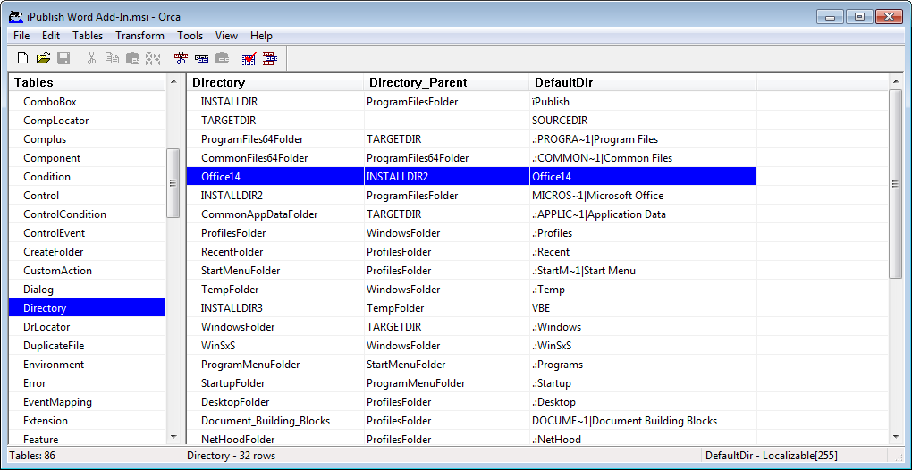 Analysing the file content of Windows Installer files using