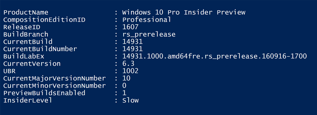 PowerShell Script – Get-WinBuildInfo – Anything about IT