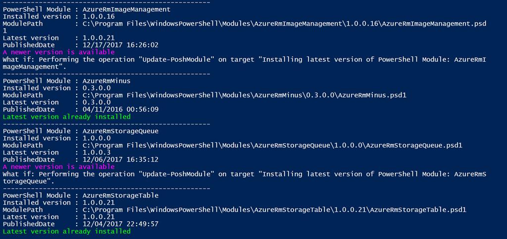 PowerShell script Update-PoshModule – Anything about IT